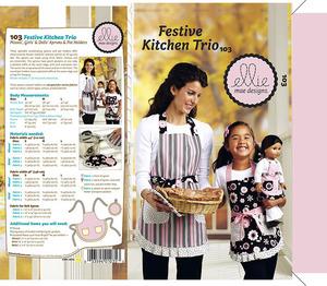 Ellie Mae Designs KW103 Festive Kitchen Trio Sewing Pattern