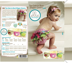 Ellie Mae Designs KW102 Too Cute to Boot Diaper Covers Sewing Pattern