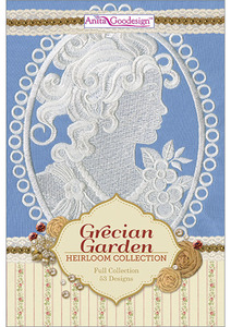 Anita Goodesign 233AGHD Grecian Garden Full Heirloom Collection Multi-format Embroidery Design Pack on CD 53 Designs