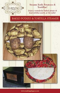 Legacy Patterns LEG9309 Baked Potato and Tortilla Steamer Circular Pocket Sewing Pattern