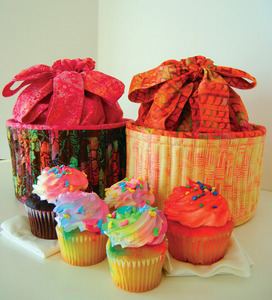 Aunties Two Patterns Cupcake Basket Sewing Pattern