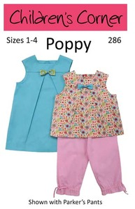 Childrens Corner CC286 Poppy A-line Dress Sewing Pattern Sizes 1-4