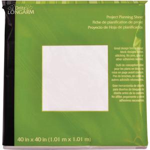 "Dritz Longarm Design Layout Sheet Project Planning Sheet 40"" x 40"" - Pack of 3"