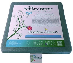 "Steady Betty SB15x24"" Press and Pin Ironing Board Pressing Surface for Applique, Bindings"