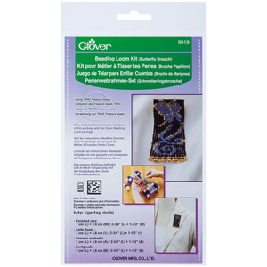 Clover 9919 Beading Loom Kit Butterfly Brooch