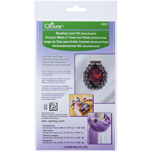 Clover 9920 Beading Loom Kit Rose Brooch