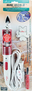 """Clover MCI-900 The Adapter Mini Iron II 11"""" Long 1"""" Tip for Appliques, Paper BOX 03"""