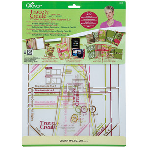Clover Trace 'n Create Templates With Nancy Zieman E-Tablet & Paper Tablet Keepers 2.0