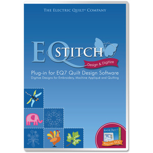 Electric Quilt ASTITCH EQ Stitch Embroidery Quilting Applique Redwork Digitizing Software DVD, Plug-In for EQ7, Video, 6 Lessons, 500 Built In Designs