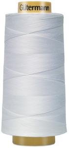 45725: Gutermann 3000-5709 Natural Cotton Thread 30wt Cone 3000m, 3281 Yards White