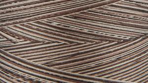 45729: Gutermann 3000V-9948 Natural Cotton Thread 30wt Variegated 3,281 Yards Brown Sugar & Cinnamon