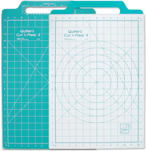 June Tailor JT722 Quilters Cut N Press II Ironing and Cutting Mat 12x18 Inches, plus Handle