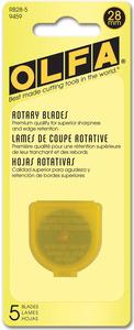 45885: Olfa RB28-5 Rotary Blade Refill 28mm 5/Pkg