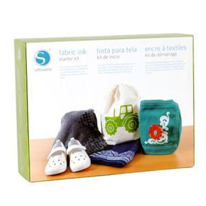 Silhouette Cameo KIT-INK-3T Fabric Ink Starter Kit, Instructional DVD, Book-FABRIC INK KIT