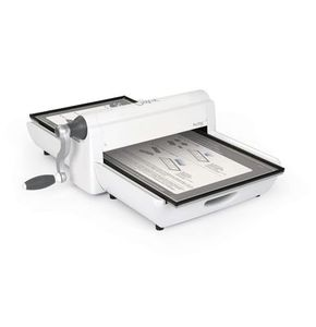 """Sizzix 660900 Big Shot Pro Fabric Series Die Cutter Machine, Hand Crank Cutting and Embossing, 12"""" Wide"""