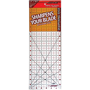 "Sullivans The Cutting EDGE Clear Ruler 6-1/2""x18-1/2"""