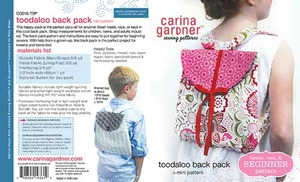 Carina Gardner Toodaloo Back Pack Pattern