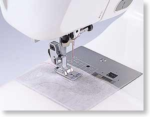 Sew Tech SA167 Brother Snap On Metal Straight Stitch Foot for up to 7mm Stitch Width Machines (Foot is Wider for Feed Dogs than on 5mm ZZ Machines)