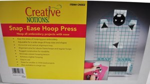 "47314: Creative Notions CNSEZ Snap-Ease Small Hoop Press for 4x4""-5x7"" Frames"