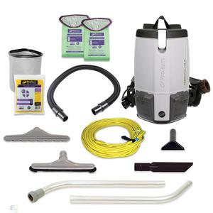 ProTeam ProVac 107363 FS6 6Qt Backpack Vacuum Cleaner +Restaurant Kit, 9 Lbs