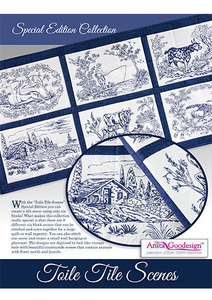 Anita Goodesign 19AGSE Toile Tile Scenes Special Edition Collection CD