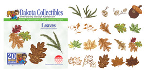 Dakota Collectibles 970406 Leaves Multi-Formatted CD Embroidery Machine Designs