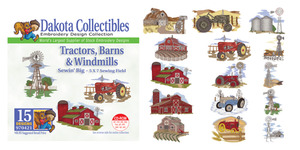 Dakota Collectibles 970421 Tractors Barns Windmills Multi-Formatted CD Embroidery Machine Designs
