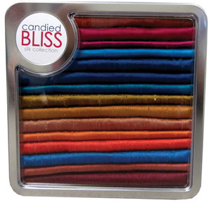 Brewer 9972-15 Candied Bliss Collection 16 Silk Dupioni Fat Quarters, Gift Tin