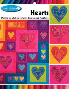 42663: Sarah Vedeler 56/2407 Hearts 18 Machine Embroidery Applique Designs CD
