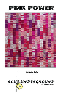 "Blue Underground Studios 93-4303 Pink Power Quilt Pattern 57x59-1/2"" for Pink Purpose Silk Collection 9972-10"