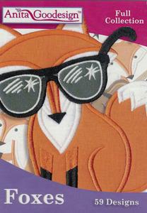 Anita Goodesign 245AGHD Foxes Collection Embroidery Design CD