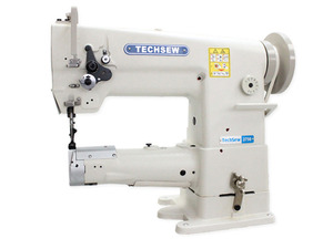 """Techsew 2750 PRO, Industrial Sewing Machine, Walking Foot, Needle Feed, Leather Stitcher, 10.5"""" Arm, 10/16mmLift, 5mmSL, Safety Clutch, Top L Bobbin, DC 2200RPM, KD U-Table"""
