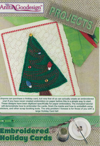 Anita Goodesign PROJ68 22 Holiday Cards 5x7 Designs Projects Embroidery CD