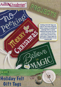 Anita Goodesign PROJ67 Holiday Felt Gift Tags Projects Embroidery CD