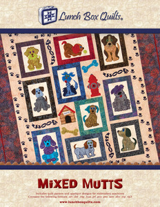 Lunch Box Quilts CQP-MM-1 Mixed Mutts Dogs Quilting Pattern Only