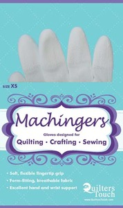 Quilters Touch 7243XS Extra Small Machingers Seamless Nylon Knit Gloves to Hold Fabric, Hoops or Rulers in Free Motion Quilting