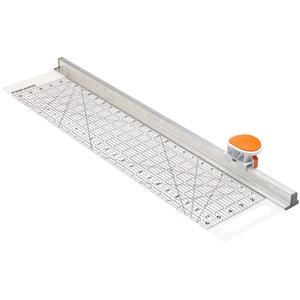 Fiskars 195130-1001, 6x24in Acrylic Ruler +45mm Rotary Cutter and Track Combo, Measure and cut in one easy step