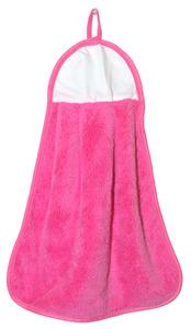 "Agomax AG0310PNK Microfiber Coral Fleece Pink Blank Hand Towel 13x17"""