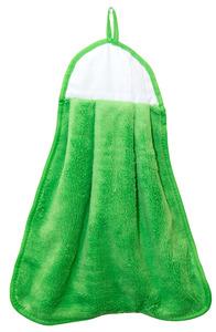 "Agomax AG0310GRN Microfiber Coral Fleece Green Blank Hand Towel 13x17"""
