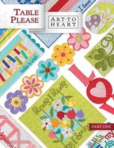Art To Heart-Table Please, 15 Projects Part One Book By Nancy Halvorsen
