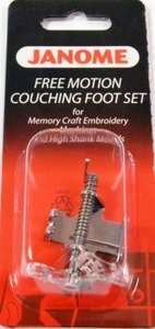 Janome 63- 202110006 Free Motion Couching Cord Yarn Foot Higher Shank*