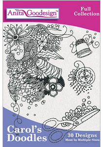 Anita Goodesign 251AGHD Carol's Doodles Multiformat Embroidery Design CD