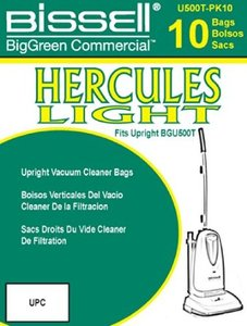 Bissell U500T-PK10 10 Pack of Bags for BGU500T Hercules Vacuum Cleaner