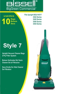 Bissell U1451PK10 10 Pack Bags for BGU1451T Upright Vacuum Cleaner