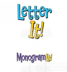 Amazing Designs AD-LI Letter It! plus AD-MI Monogram It! Combination Softwares, 35 Fonts
