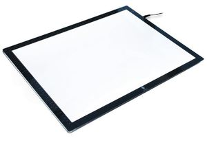 "Daylight, U35030, Wafer2, 3/8"", Thick, LED, Light, Box, 11x17"", Tracing, Area, Ruler, 72"", Cord, 5Lbs"