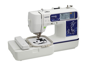 "54430: Brother NV990D 4X4"" 35 Disney 105 Embroidery 168 Stitch Sewing Machine, USB Stick Port"