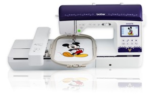 "Brother NQ3500D Disney 290 Stitch Sew Quilt Machine 25Yr Wntt,  8.3"" Arm, 6.25 Embroidery, 2 Hoops, 13 Feet, 1000 Designs (Same Machine as BP3500D)"