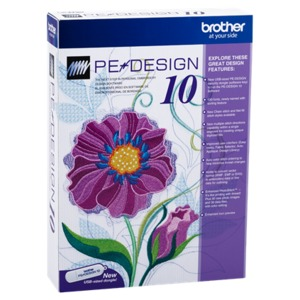 54439: Brother PEDESIGN10 PE Design Palette v10 Embroidery Digitizing Software