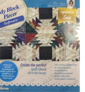 DIME Inspirations MBP My Block Piecer Quilting Software (Floriani Piece Maker+)  (comparable to former Piece Maker)